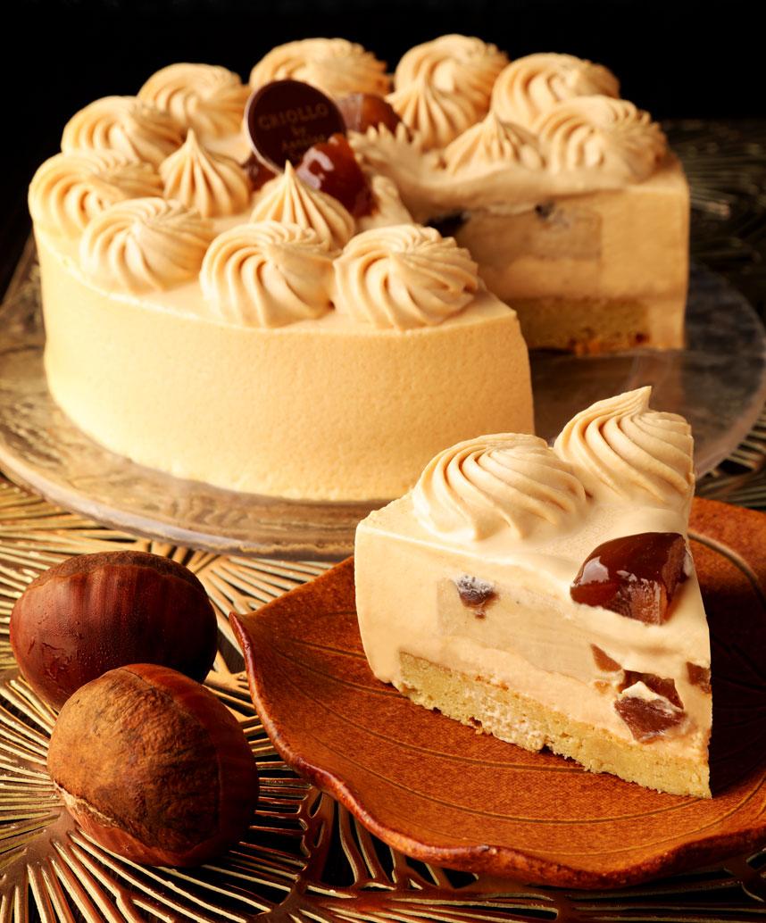 キャラメルと栗のケーキ