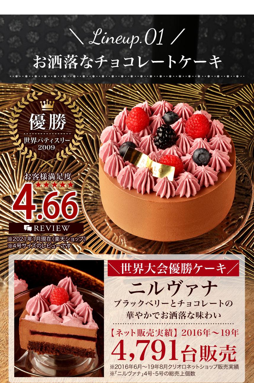 ブラックベリーとチョコレートのケーキ「ニルヴァナ」